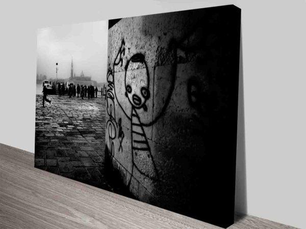 Dark City Creatures Vintage Pop Culture Art Canvas