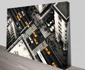 Overhead Metropolitan Street View Modern Pop Prints