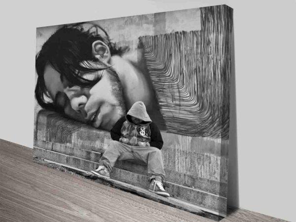Self Reflecting Graffiti Modern Street Art Canvas