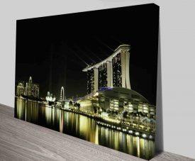Bright City Lights Modern Landscape Prints