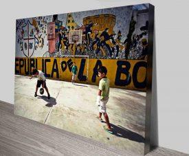 Brazilian Street Football Modern Street Art Canvas Prints