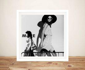 Flashy Glamour Fashion Prints Art Canvas