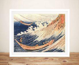 Hokusai A Wild Sea at Choshi Framed Wall Art Poster