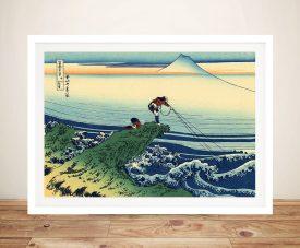 Hokusai Kajikazawa in Kai Province Framed Wall Art Sydney