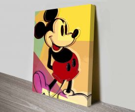 andy warhol mickey mouse V3 Wall Art Print