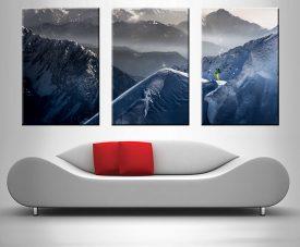 Where Eagles Dare Mountain Triptych Canvas Art