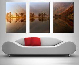 Mountain Lake Reflections Triptych