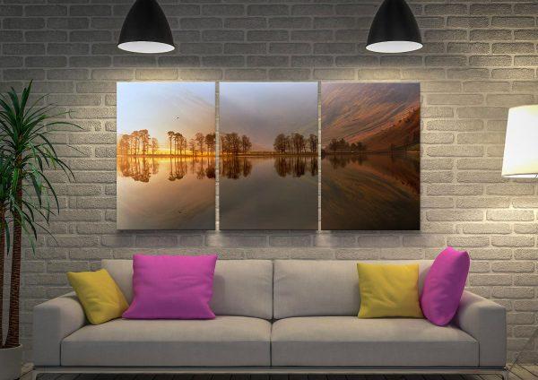Ready to Hang Split Panel Landscape Prints AU