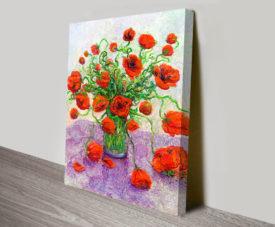 The Color Poppy Floral Art by Iris Scott