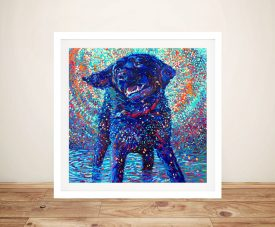 Buy Canines & Color Framed Wall Art by Iris Scott