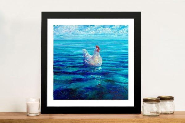 Chicken of the Sea Iris Scott Framed Wall Art
