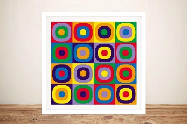 Buy Abstract Circles a Kandinsky Framed Print