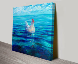 Chicken of the Sea Iris Scott Canvas Artwork Print Australia