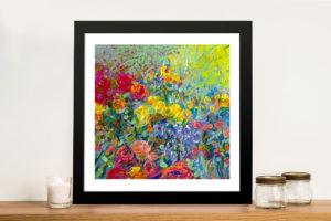 Clay Flowers Iris Scott Framed Flower Picture Art