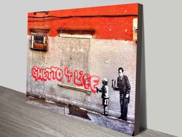 Ghetto 4 Life Artwork on Canvas