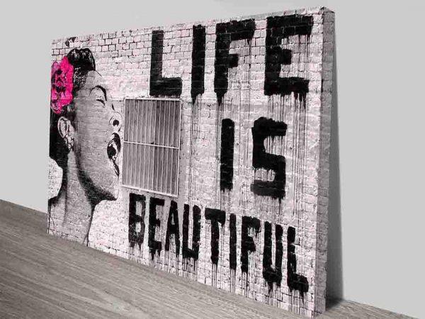 Life is Beautiful Banksy Wall Art