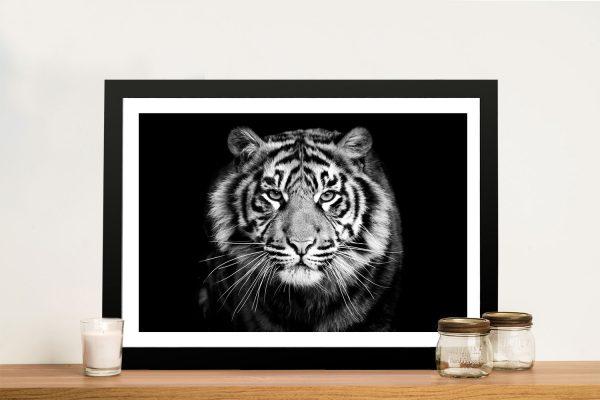 Buy White Tiger Framed Canvas Art