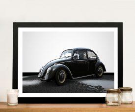 Black-and-White VW Beetle Wall Print