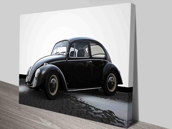 VW Beetle Wall Print on Canvas