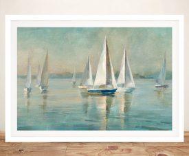 Danhui Nai Sailboats at Sunrise Framed Print