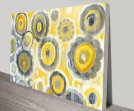 Abstract Circles Crop on Canvas Print Art Gallery