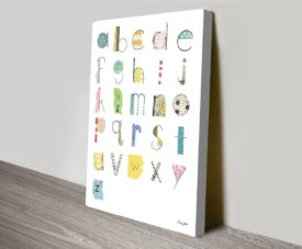 Alphabet II Canvas Work Art Gallery Online