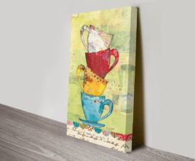 Come for Coffee Canvas Work Art Online Gallery