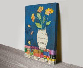 Floral Music II Canvas Work Art Online Gallery