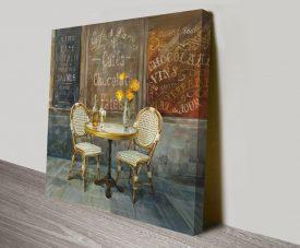 French Cafe Danhui Nai Artwork on Canvas