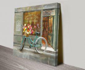 French Flowershop Artwork on Canvas