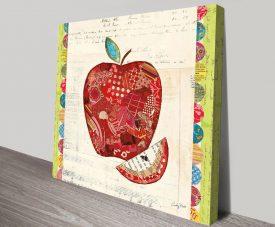 Fruit Collage I, Apple Art Print on Canvas