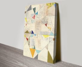 Geometric Background II Canvas Work Art Online Gallery