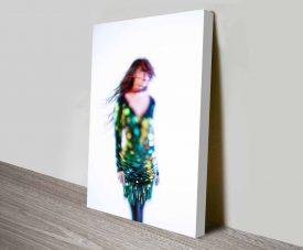 Glitter Print Art on Photos