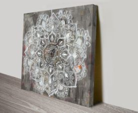 Mandala in Neutral II Artwork Print