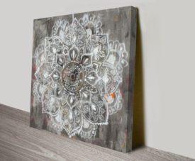 Mandala in Neutral II Artwork Print
