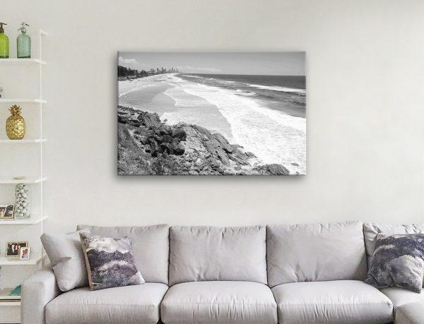 Miami Beach Black & White Wall Art for Sale Online
