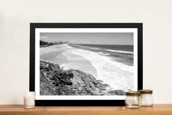 Buy a Framed Black & White Print of Miami Beach