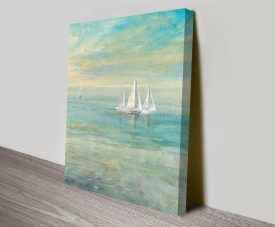 Sunrise Sailboats II Canvas Workart