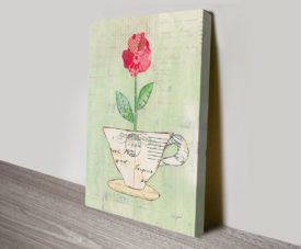 Teacup Floral Canvas Art Gallery Online