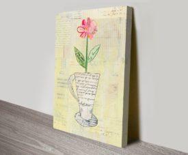 Teacup Floral II Floral Canvas Art Gallery Online
