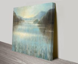 Through the Mist Square Canvas Work art