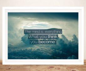 Buy The Mind Framed Inspirational Canvas Art