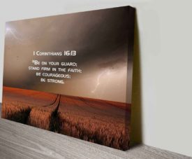 Bible Quote 1Cor16 on Canvas Print Art Gallery