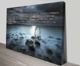 Bible Quote 1Corinthians10 on Canvas Print Art Gallery