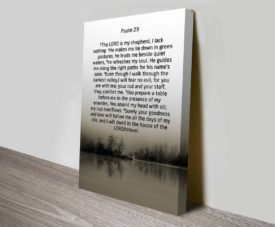 Bible Quotes Psalm 23 on Canvas Print Art Gallery