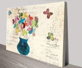 Butterfly Bouquet Canvas Work Art Online Gallery