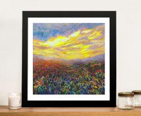 Cacti Sunrise Artwork on Canvas Gallery Online