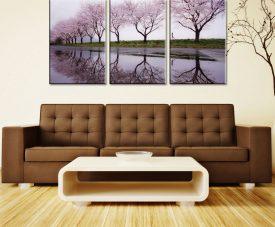 Cherry Blossom Lane 3 Panel