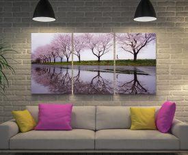 Cherry Blossom Lane Split Panel Artwork