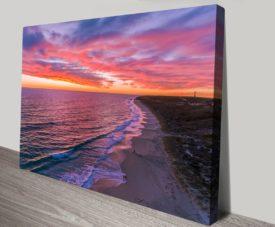 Guilderton Sunset Matt Day Collection on Canvas Print Art Gallery